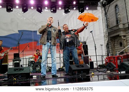 St. Petersburg, Russia - August 11, 2013: Concert in Catherine Square