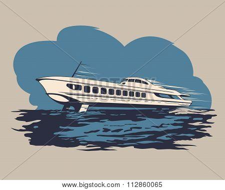 Hydrofoil ship 1