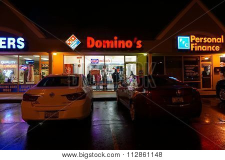 Domino's Pizza at Night