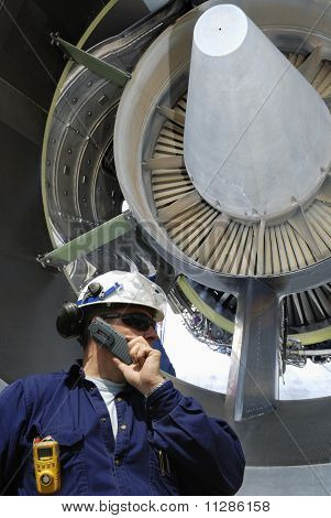 mechanic and jet-engine