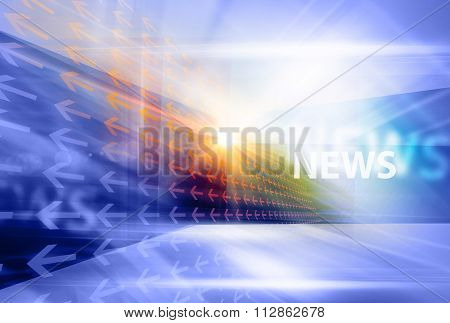 Graphical Modern Digital World News Background Vi