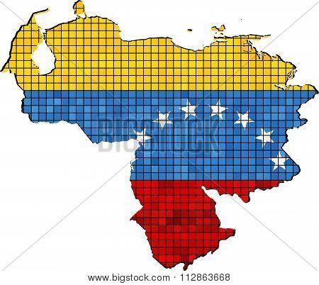 Venezuela Map With Flag Inside.eps