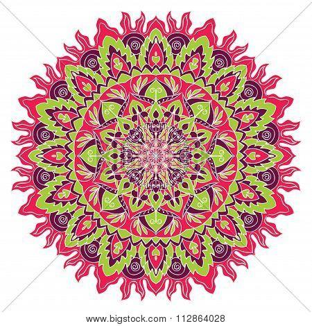 Bright Vector Mandala.