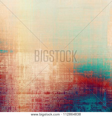 Abstract old background or faded grunge texture. With different color patterns: yellow (beige); purple (violet); blue; red (orange)