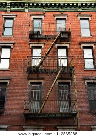 New York fire-escape staircase