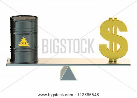 Oil Barrel And Dollar On Swing