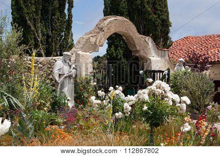 Gate Of Mission San Carlos Borromeo De Carmelo, Carmel, Usa