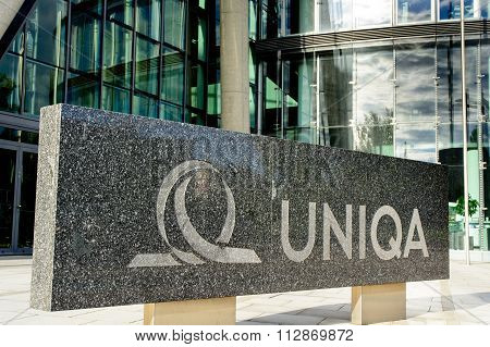Uniqa Sign At Company Headquarters