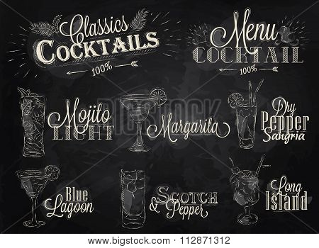 Cocktail Menu Chalk