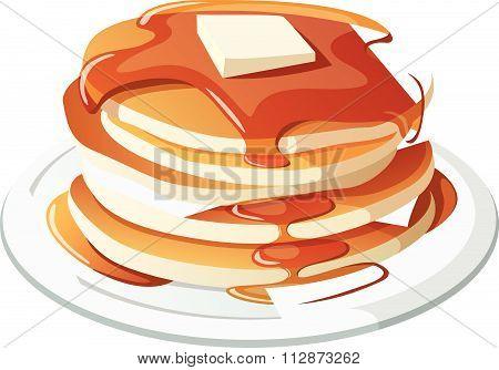 Pancakes concept vector illustration