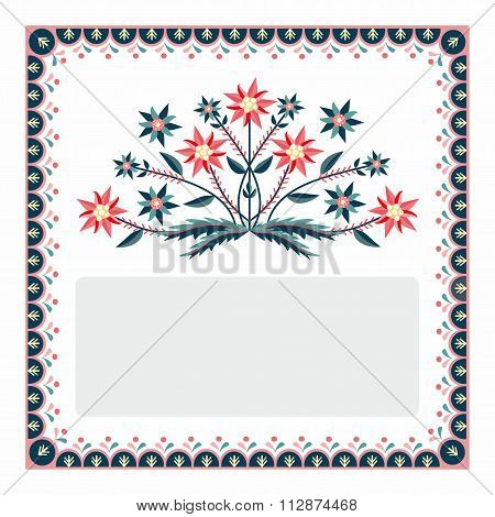 Polish pattern popular with edelweiss - the label