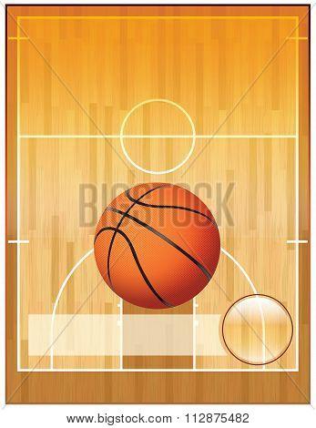 Vector Basketball League Flyer