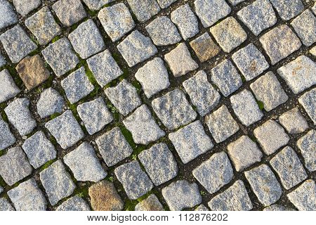 Cobble Stones Brick Walkways Background In Red And Grey
