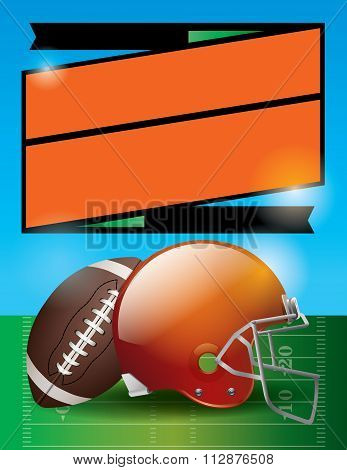 Vector American Football Bowl Game Party Illustration