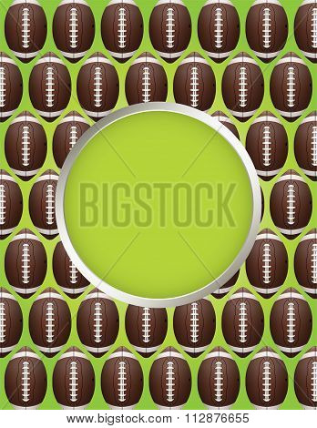 Vector American Football Pattern Party Flyer