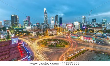 Saigon sparkling at night