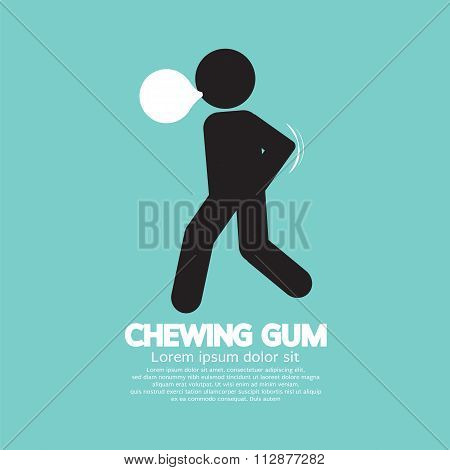 Black Symbol Chewing Gum.