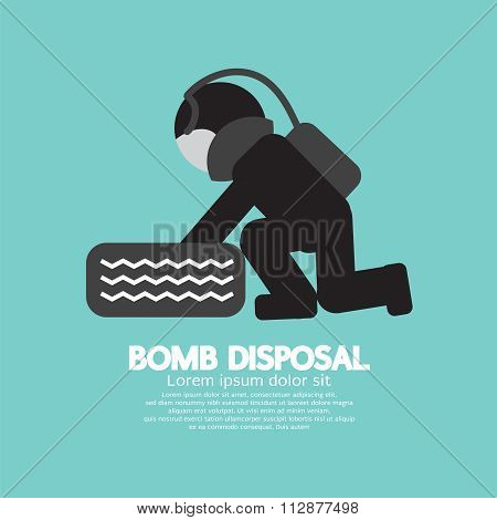 Black Symbol Bomb Disposal.