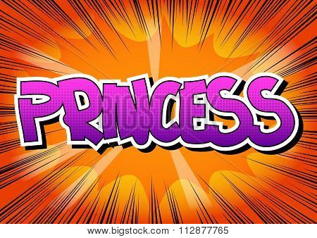 Princess - Comic book style word