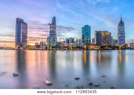 Sunset moment in Ho Chi Minh City, Vietnam