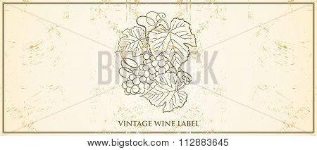 Vector Vintage Wine Bottle Label Template