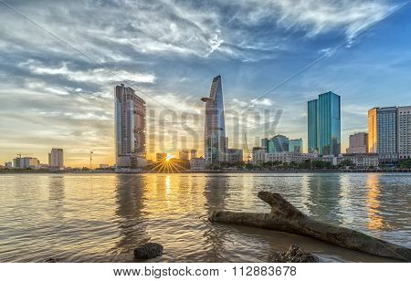Sunstar sunset in Ho Chi Minh City