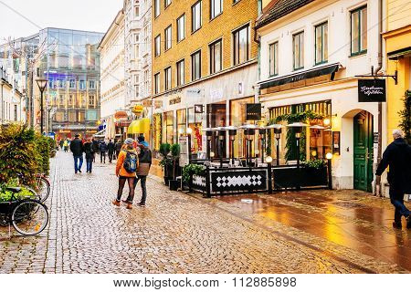 Malmo, Sweden - December 31, 2014: Streets And Architecture Of City Malmo In The Christmas And Holid