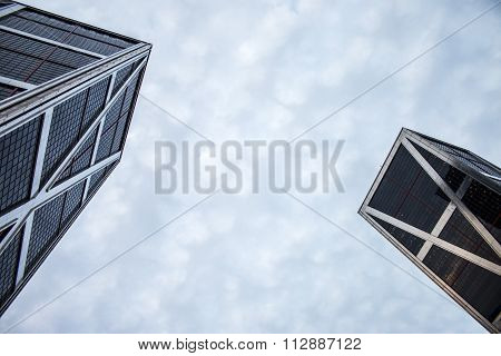 Kio Tower In Madrid, Seen From Below
