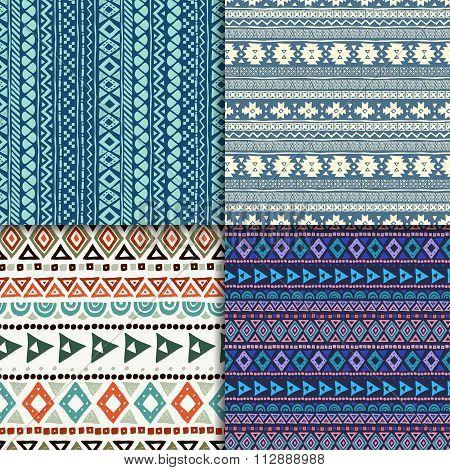 Seamless ethnic pattern set