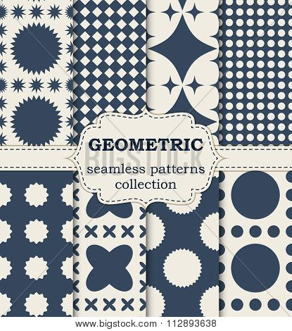 Vector illustration seamless geometric patterns