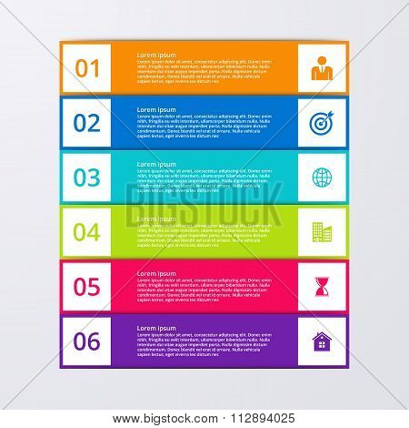 Vector illustration infographics six options