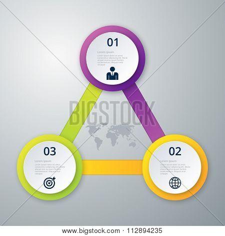 Vector illustration infographics three circles.