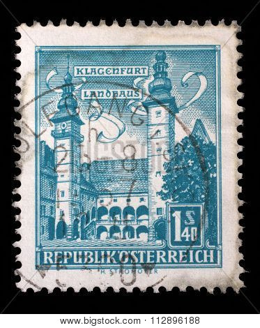 AUSTRIA - CIRCA 1960: a stamp printed in the Austria shows County Seat, Klagenfurt, circa 1960