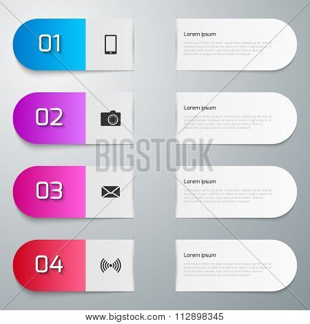 Vector illustration infographics four
