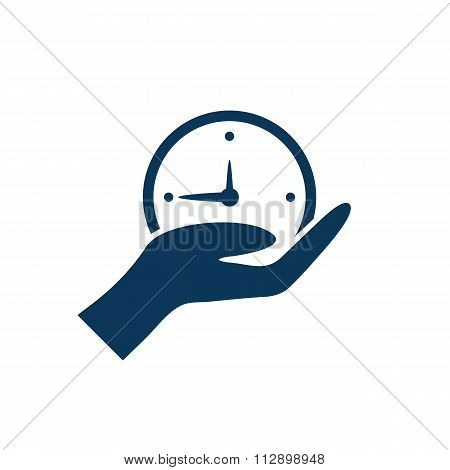 Hand Giving The Clock.