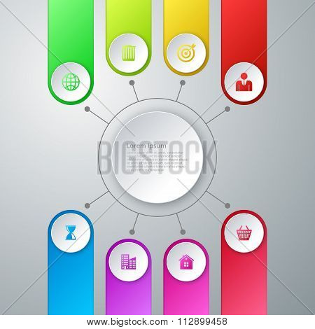 Vector illustration infographics eight options
