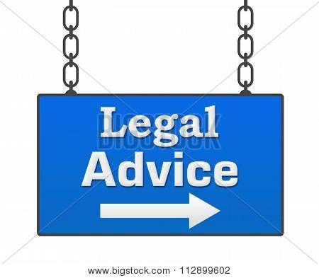 Legal Advice Blue Signboard