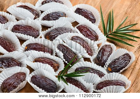 Group Of Date Fruits.