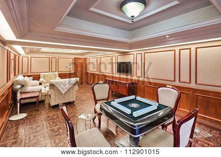 decoration and facility in luxury recreation room