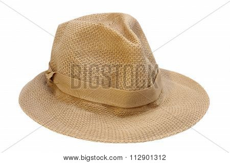 Braided Hat Over White