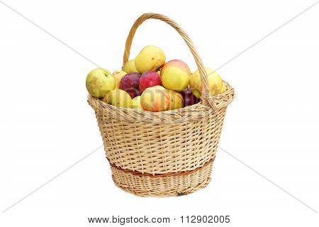 Wattle Handmade Basket With Apples