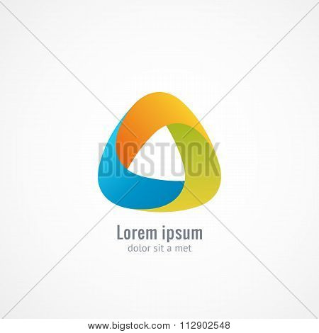 Triangle abstract logo. Infinite looped shape.