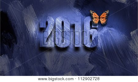 Graphic 2016 New Year's Butterfly