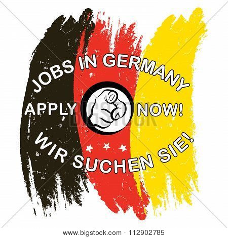 Jobs in Germany. Apply Now - label
