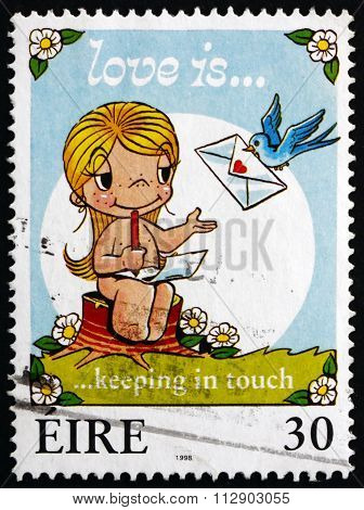 Postage Stamp Ireland 1998 Love Is Keeping In Touch