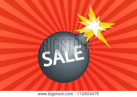 SALE on a bomb