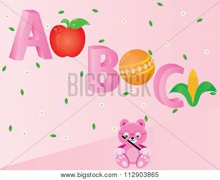 Apple Ball And Cob For Teaching Kids A, B, And C