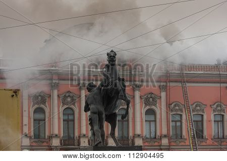 Fire In The Palace of the Princes Beloselsky-Belozersky