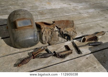 Old out-dated welding equipment