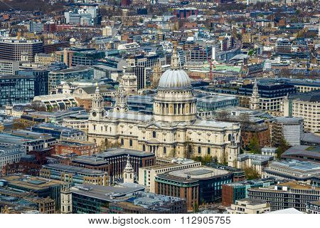 St Paul's cathedral in London, England, UK